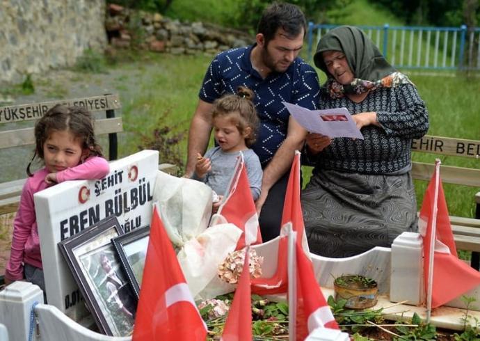 2017'de Şehit Olan Eren Bülbül Adına Karne Düzenlendi