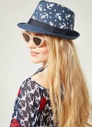 Lacivert Hasır Şapka