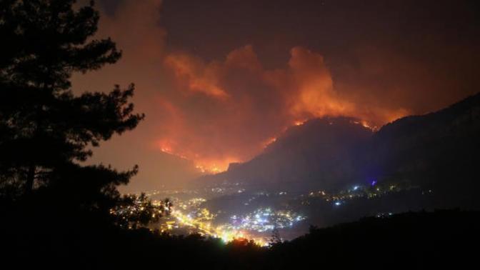 Dalaman'da Başlayıp Göcek'e Kadar Ulaşan Orman Yangını Kontrol Altına Alındı