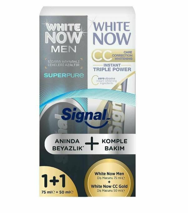 Signal Whıte Now Gold Macun 75Ml+ 50 ML Hediyeli