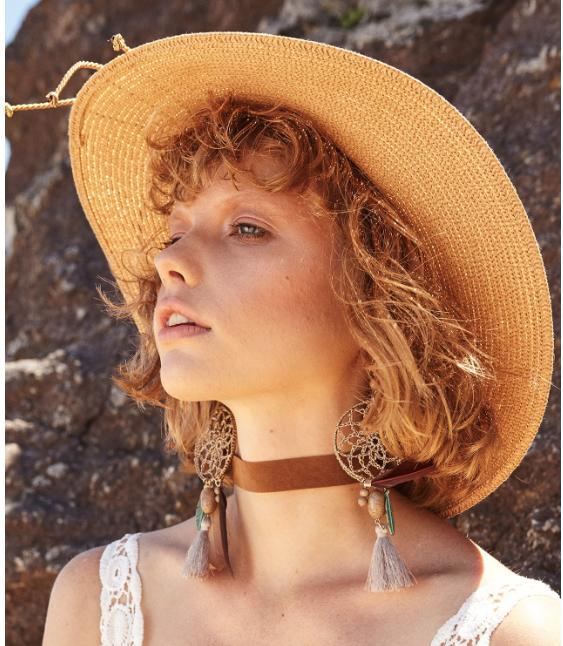 Kadın Hasır Şapka