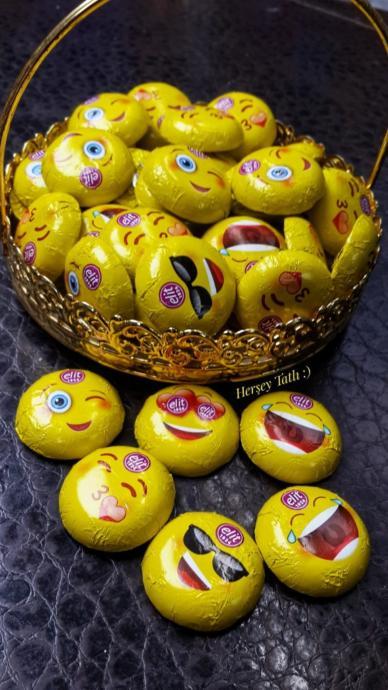 Elit Emoji Sütlü Çikolata 500 Gr