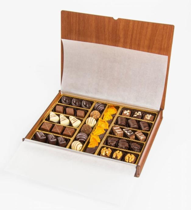 Ferlife Ankara Manzarlı Ahşap Çikolata Kutusu