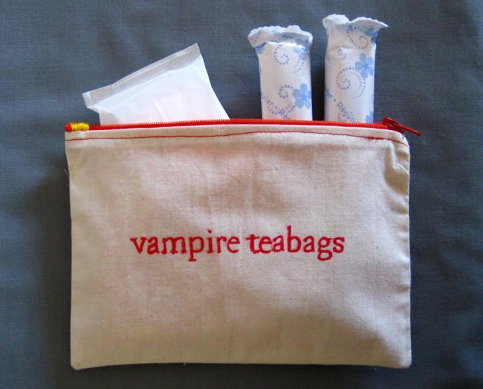çantada ped ve tamponlar