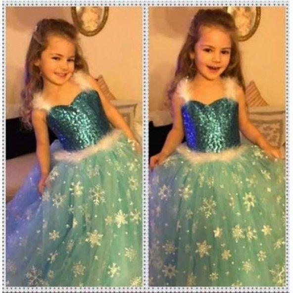Elsa Askılıklı Tarlatanlı Kostüm