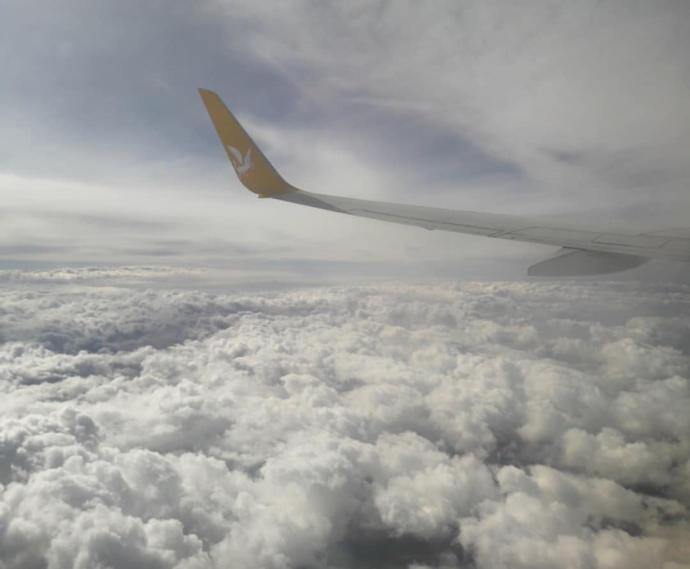 Uçak yolculuğu (Erzurum)