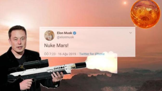 """Elon Musk: """"Mars'ı Bombalayalım"""" Dedi, Twitter Kullanıcıları Attıkları Tweetlerle Musk'ı Bombardımana Tuttu!"""