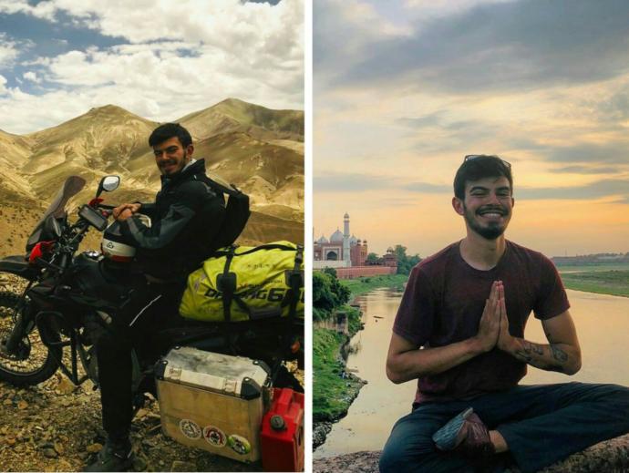 Türkiye'nin en genç motosikletli gezgini Tuna Duman