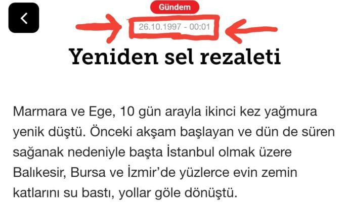 Hürriyet'in 1997 tarihli haberi.