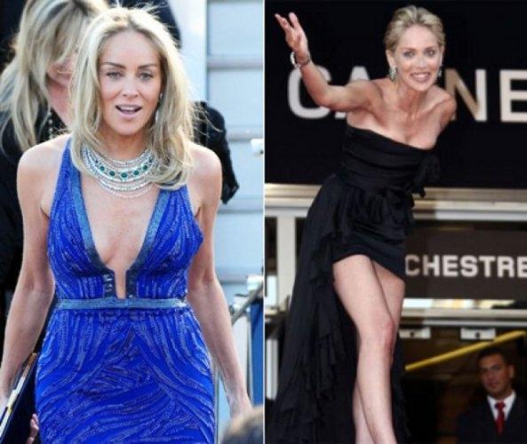 Sharon Stone 55 yaşında olmasına rağmen 30'lu yaşları yaşatma gayretinde...
