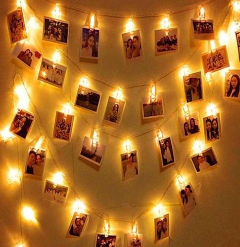 Işık mandallı fotoğraf albümü