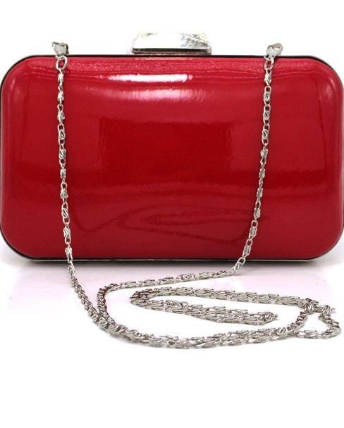 Kırmızı rugan el çantası