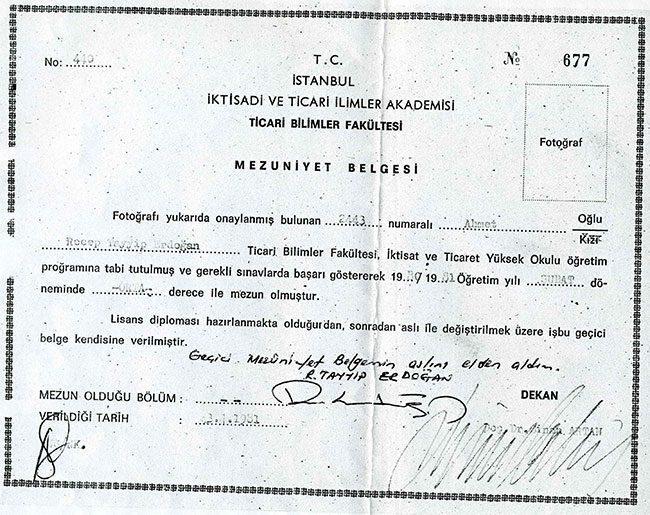 Cumhurbaşkanı Erdoğan'ın Tartışmaların Odağındaki Diploması!