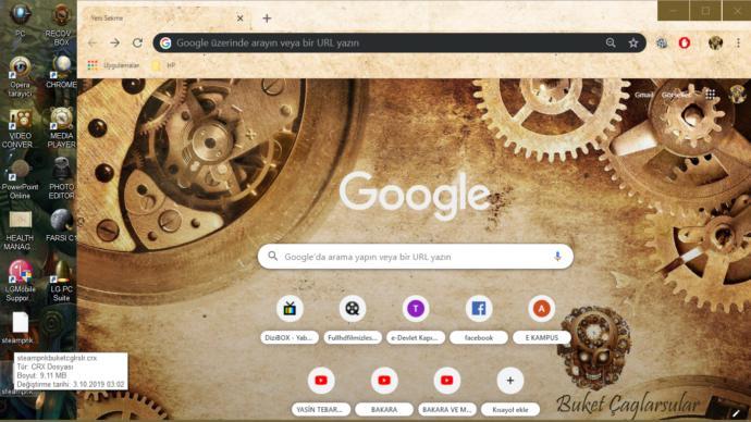 Buket yapımı Chrome Theme :D