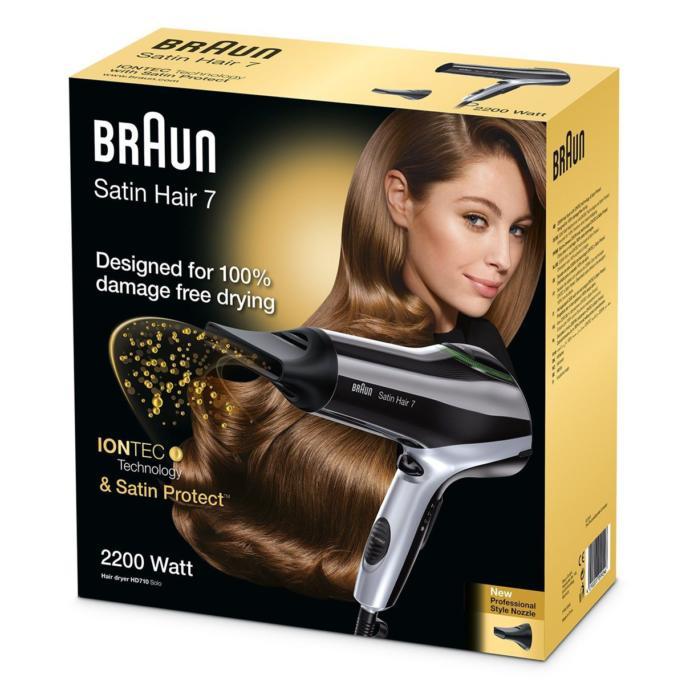 Braun Satin Hair 7 İontec HD710 Siyah Saç Kurutma, Fön Makinesi