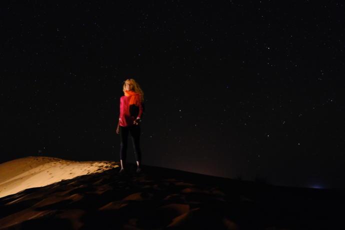 Sahra çölünde gece