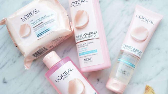 Ürün İncelemesi: L'Oréal Paris Değerli Çiçekler Makyaj Temizleme Serisi Hakkındaki Yorumlarım