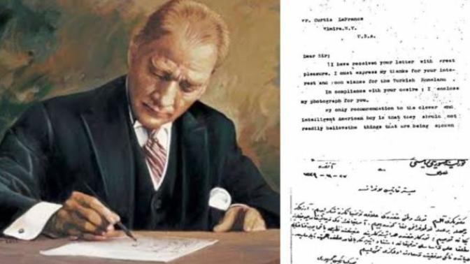 Okyanuslar Ötesinden Atatürk Hayranı Bir Çocuk: Curtis La France ve Ata'ya Yazdığı Mektup