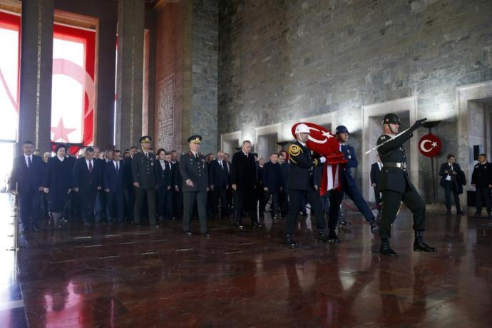 Atatürkü Anma Töreni Erdoğan: Cumhuriyetimize En Büyük Katkıyı Başında Bulunduğum Hükümetler Yapmıştır