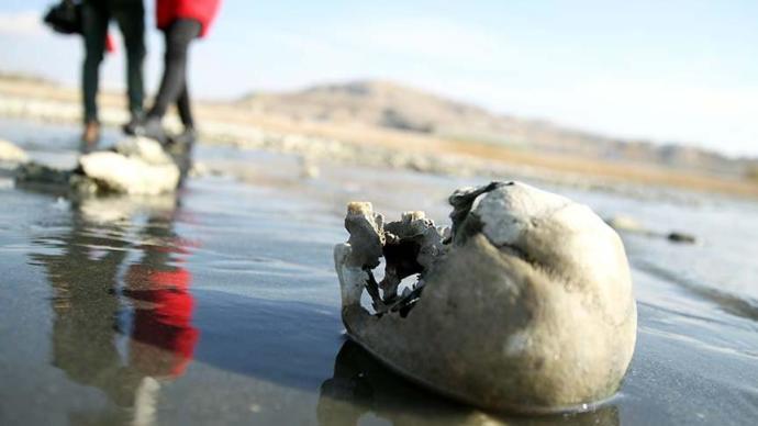 Van Gölünde Sular Çekilince İnsan Kemikleri Ortaya Çıktı