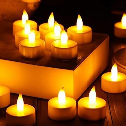 Dekoratif Pilli Led Mum | Yılbaşı Süs Led Işık - Pil Hediyeli