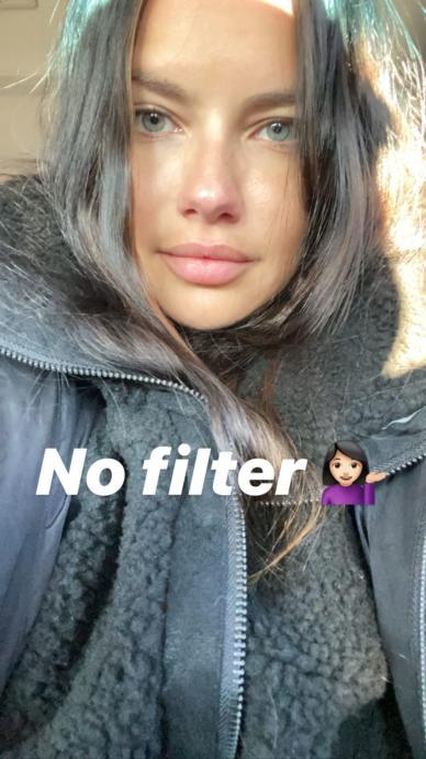 Adriana Limadan filtresiz selfie / Instagram