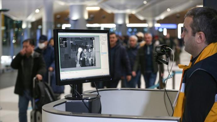 Termal kameralarla kontrol - İstanbul Havalimanı
