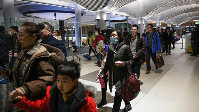 Çinden gelen yolcular - İstanbul Havalimanı