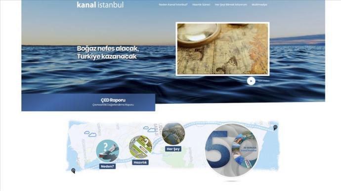 Kanal İstanbul Projesi İnternet Sitesi Açıldı