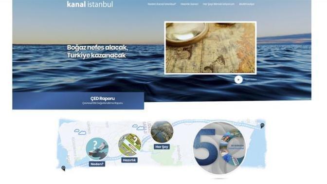 """""""Kanal İstanbul"""" Projesi İnternet Sitesi Açıldı"""