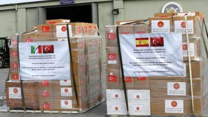 Türkiye'den İtalya ve İspanya'ya Mevlana'nın Sözleriyle Tıbbi Yardım Malzemeleri