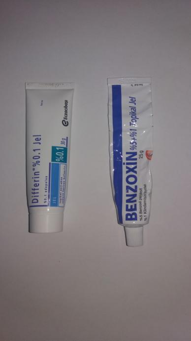 Benzoxin ve Differin krem
