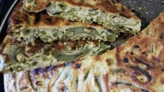 Karantina Günlerinde Tok Tutan, Sağlıklı, Diyet Yapanlara Özel Tavada Taze Fasulye Böreği Tarifim