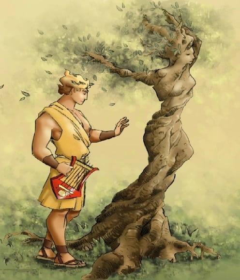 Apollonun Daphaneyi ağaca dönüşmüş halini gördüğü an
