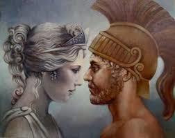Güzellik tanrıçası Aphrodite ve savaş tanrısı Ares