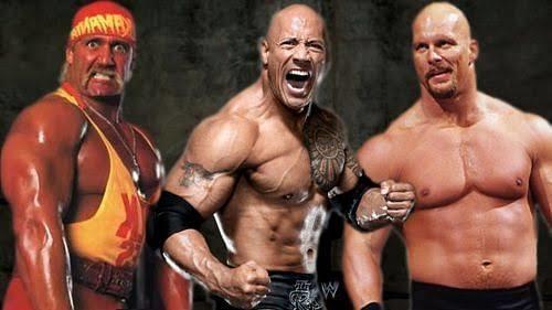 Hulk Hogan - Dwayne Johnson - Steve Austin ( Stone Cold )