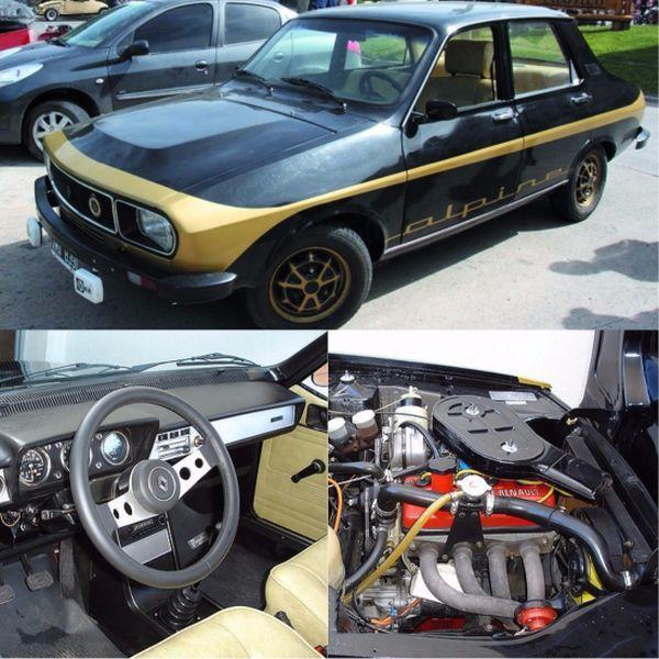 Renault 12 Alpine aracın dış görünüşü, motoru ve iç kokpiti