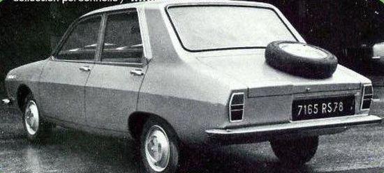 Üretilen ilk R12 modelinin arkadan görünüşü
