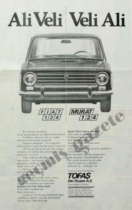 Murat 124ün ilk gazete reklamlarından birisi