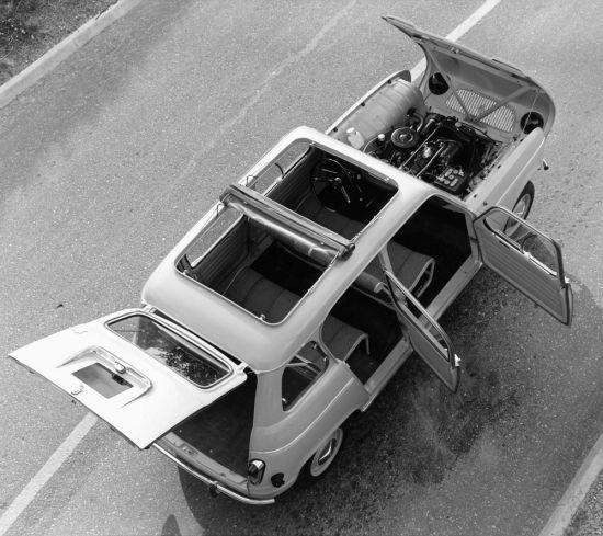 Renault 4Lnin ne kadar kullanışlı olduğunu gösteren fotoğraf