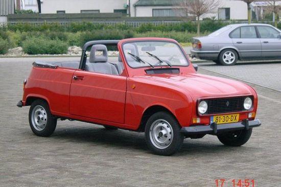 Renault 4 cabrio modeli