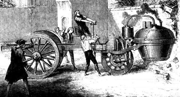 Nicholas Joseph Cugnotun yaptığı ilk motorlu taşıt aynı zamanda tarihteki ilk trafik kazasını da yapmıştı