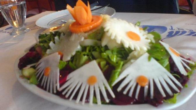 Patlıcandan Bomba; Yanına Da Piramit Salata :)