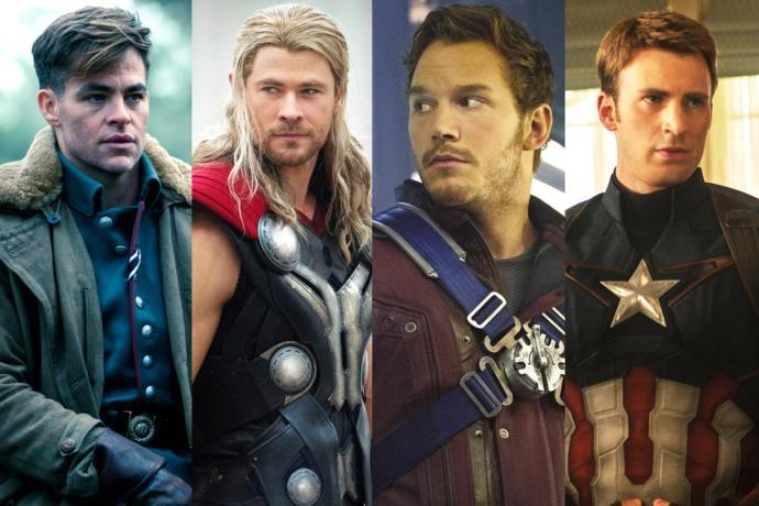 Steve Trevor- Thor- Star Lord- Captain America