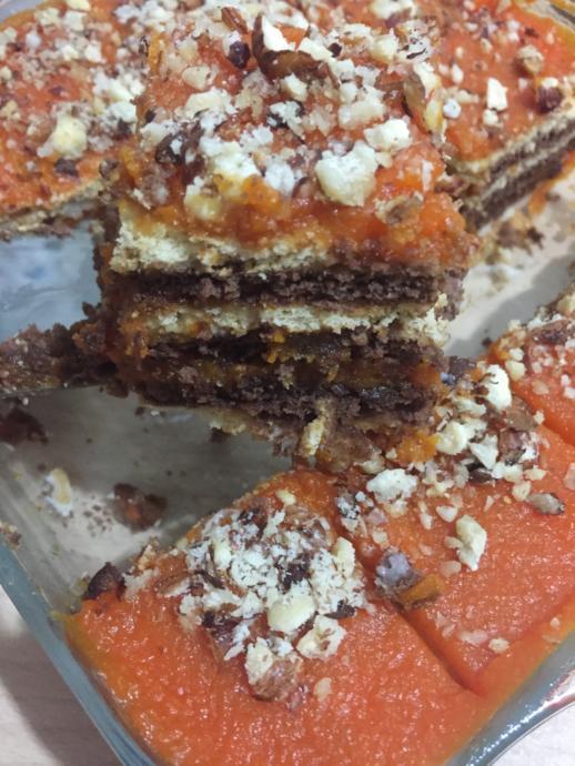 Balkabağını Sevdiren Tarif: Balkabaklı Muhallebili Pasta Tarifim!