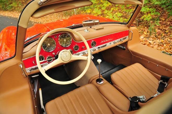 İç kokpit tasarımı çok güzel bir arabaydı 300 SL