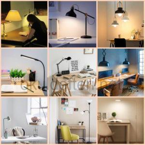 Çalışma odasında ışığın konumu önemlidir.