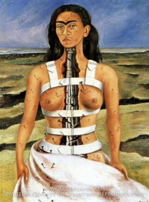 Yaşadığı acıları tablosunda böyle anlatıyor Frida.