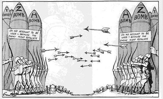 Soğuk savaşı anlatan bir karikatür