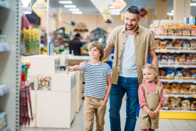 Ebeveyn ile alışveriş